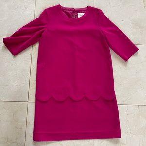 Kate Spade NWOT Hot Pink Scalloped Dress Sz 12